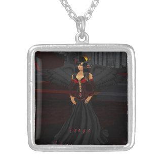 Dark Goth Angel Necklace