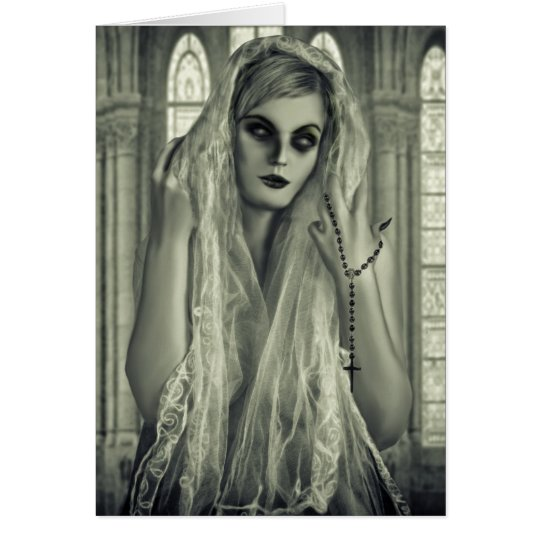 Dark Gothic Woman Card