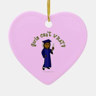 Dark Graduate in Blue Ornament