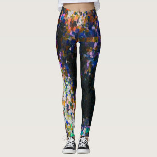 Dark Graffiti Paint Love Leggings
