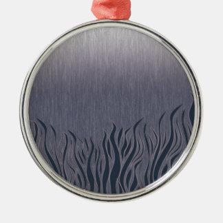 Dark Grassland Silver-Colored Round Decoration