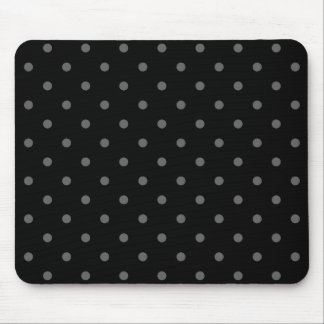 Dark Gray and Black Polka Dot Pattern. Mouse Pad