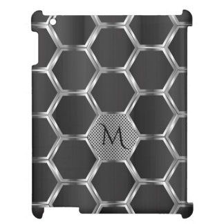 Dark Gray And Silver Geometric Pattern Cover For The iPad 2 3 4