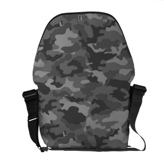 Dark Gray Army Military Camo Camouflage Pattern Courier Bags