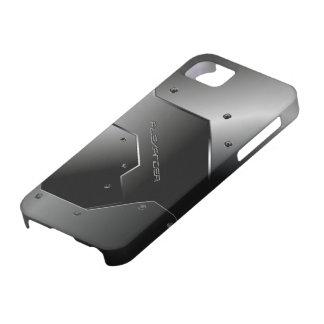 Dark Gray Brushed Aluminum Metal Look-Monogram iPhone 5 Case