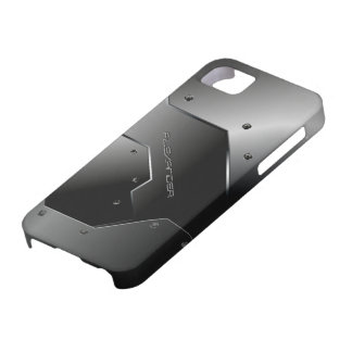Dark Gray Brushed Aluminum Metal Look-Monogram iPhone 5 Cover