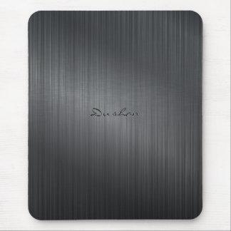 Dark Gray Brushed Metal Look Mouse Pad