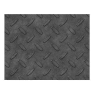 Dark Gray Diamond Plate Texture 21.5 Cm X 28 Cm Flyer