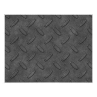 Dark Gray Diamond Plate Texture Flyer