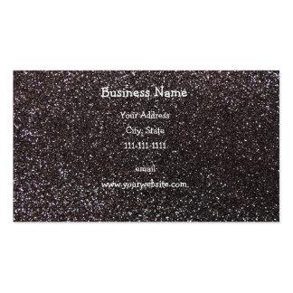 Dark gray glitter business card templates