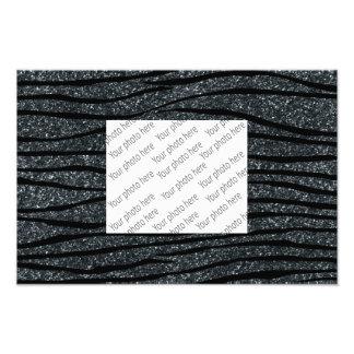 Dark gray glitter zebra stripes photograph