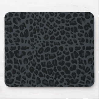dark gray leopard print pattern mouse mat