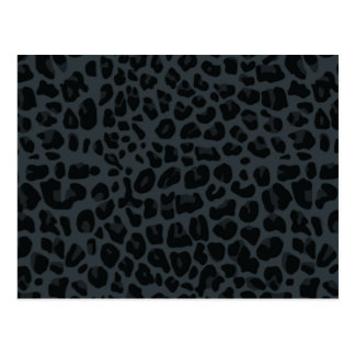 dark gray leopard print pattern postcard