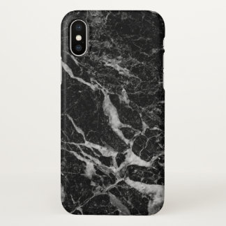 Dark Gray Marble Texture iPhone X Case