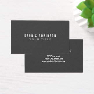 Dark gray modern generic simple masculine personal business card