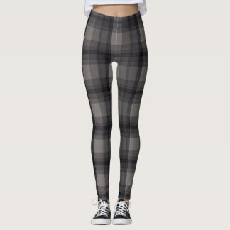 Dark Gray Plaid Leggings