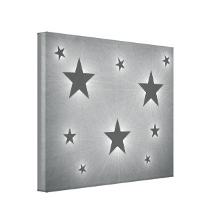 Dark Gray Stars in the Night Sky Canvas Print