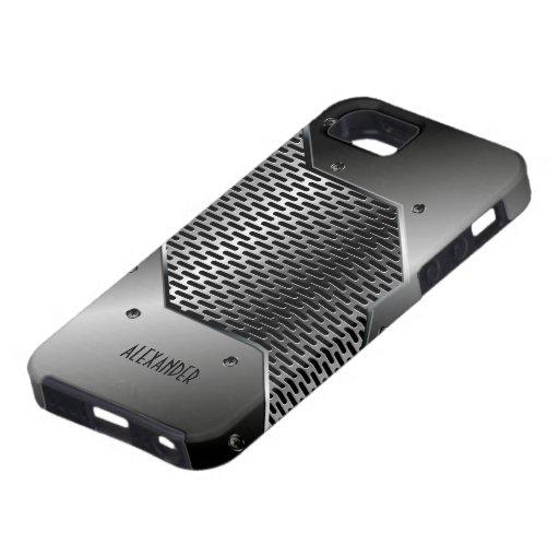Dark Gray Tones Shiny Metallic Look iPhone 5 Case