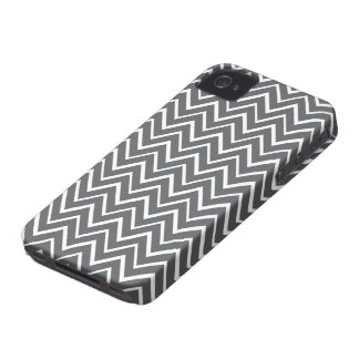 Dark gray whimsical zigzag chevron pattern case