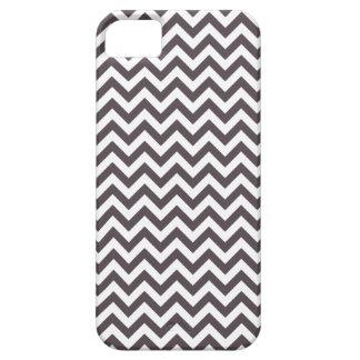 Dark Gray White Chevron Pattern iPhone 5 Covers