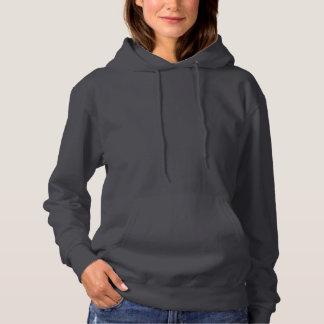 Dark Gray Women's Basic Hooded Sweatshirt