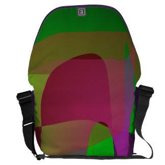 Dark Green Abstract Composition Messenger Bag