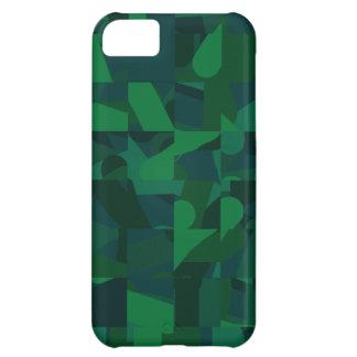 Dark Green Abstract Pattern. iPhone 5C Case