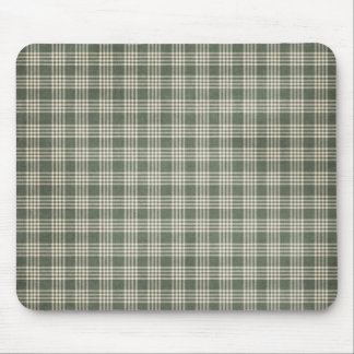 Dark Green and Beige Mouse Pad