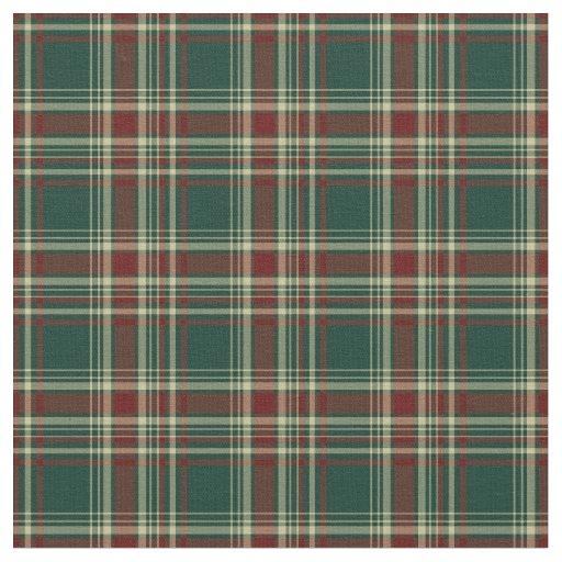 Dark Green and Maroon Christmas Plaid Pattern Fabric