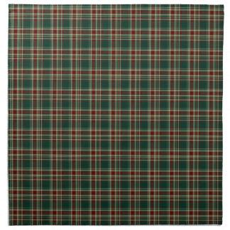 Dark Green and Maroon Christmas Plaid Pattern Napkin
