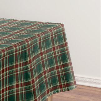 Dark Green and Maroon Christmas Plaid Tablecloth
