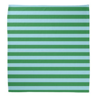 Dark Green and Pastel Blue Stripes Do-rag
