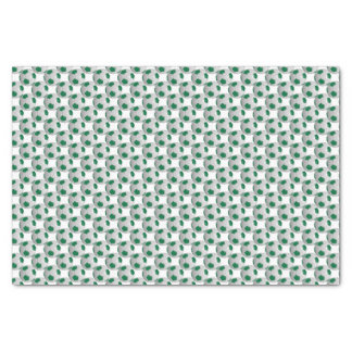 "Dark Green and White Soccer Ball 10"" X 15"" Tissue Paper"