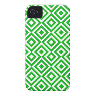 Dark Green And White Square 001 Pattern iPhone 4 Case-Mate Case