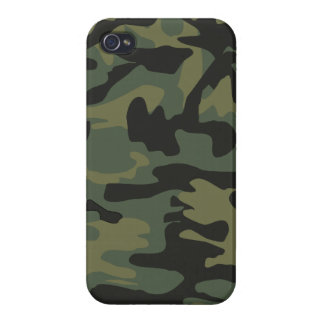 Dark green army camo pattern iPhone 4 cover