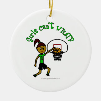 Dark Green Basketball Christmas Ornament