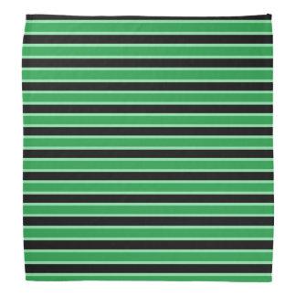 Dark Green, Black and Pastel Green Stripes Do-rag