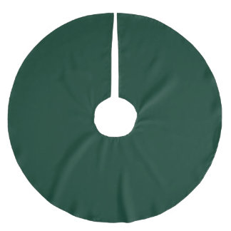 Dark Green Brushed Polyester Tree Skirt