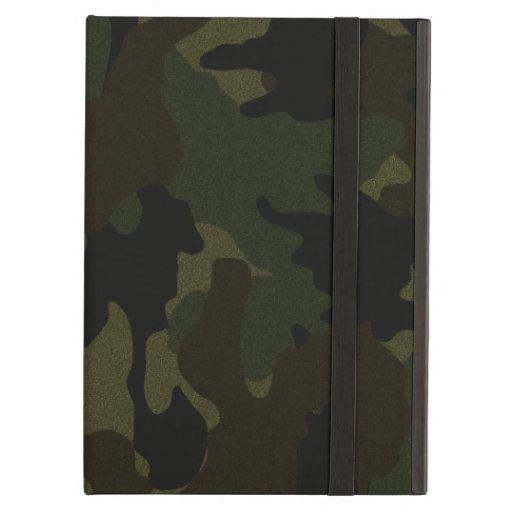 Dark Green Camo Faux Cloth iCase iPad Air Case iPad Air Covers