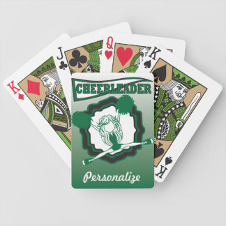 Dark Green Cheerleader | Personalize Bicycle Playing Cards