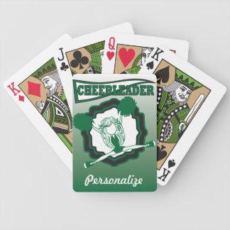 Dark Green Cheerleader | Personalize Poker Deck