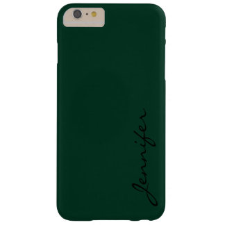 Dark green color background #2 barely there iPhone 6 plus case