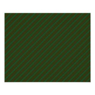 Dark Green Diagonal Striped Pattern. 11.5 Cm X 14 Cm Flyer