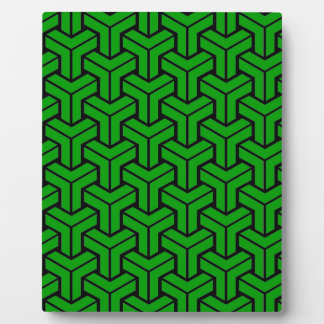 Dark Green Geometric Pattern Plaque