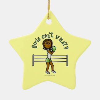 Dark Green Girls Boxing Ornaments
