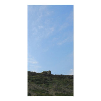 Dark Green Hill Top and Blue Sky Photo Cards