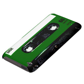 Dark Green Label Cassette Barely There iPod Cases