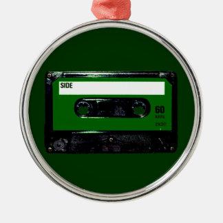 Dark Green Label Cassette Ornaments