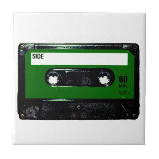 Dark Green Label Cassette Tiles