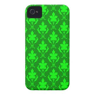 Dark Green & Light Green Ornate Wallpaper Pattern iPhone 4 Case
